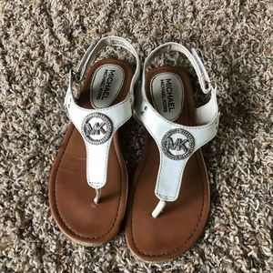 Michael Kors kids sandals size 2 brown leather